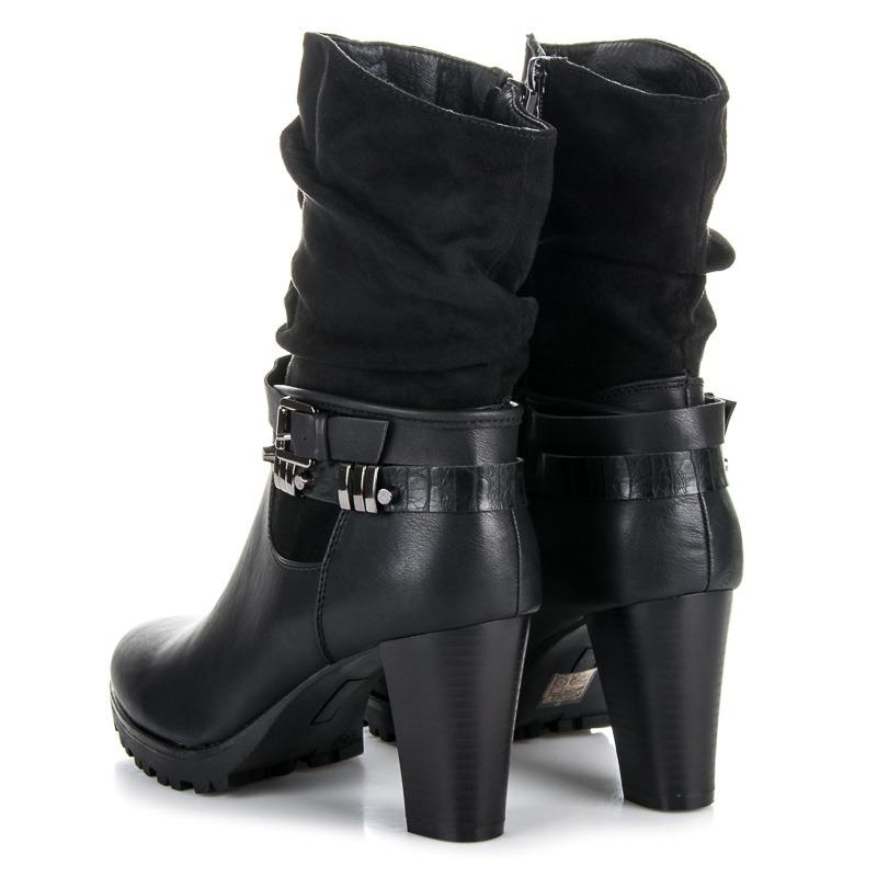 cfea67b0459f Vysoké čierne členkové topánky so zateplením