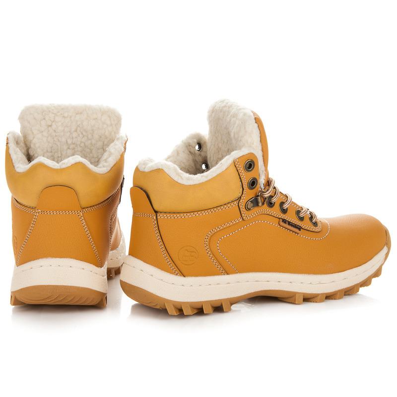 5ffcaedd08e8 ... Zateplené hnedé pánske trekové topánky ...