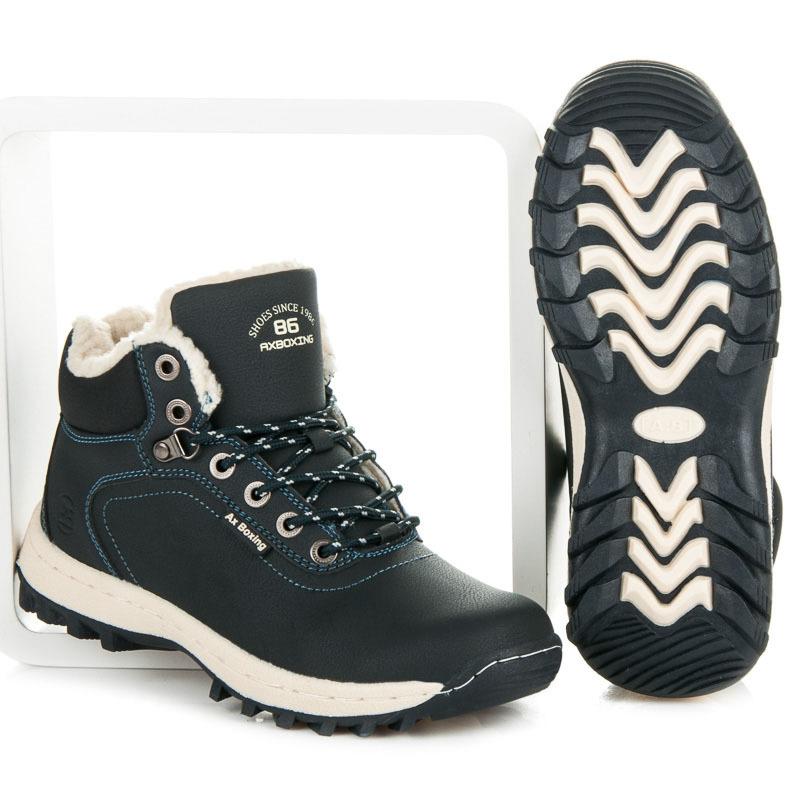 7af7ef4a43425 Zateplené modré pánske trekové topánky | AMIATEX.sk