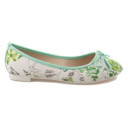 Zelené balerínky s kvetmi