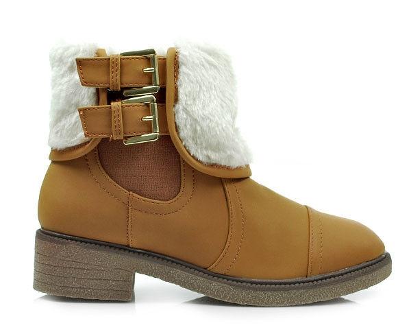 Zimné hnedé členkové topánky